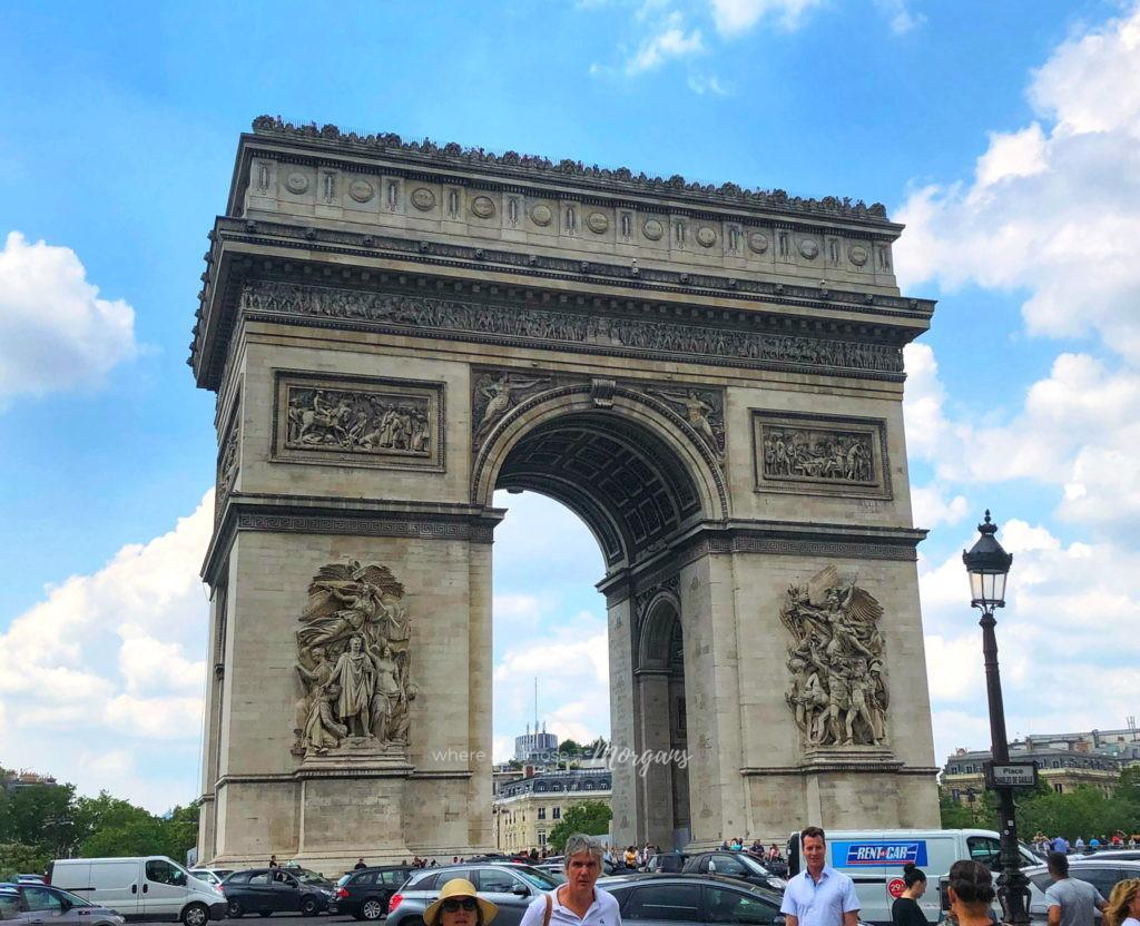 Front view of the Arc De Triomphe