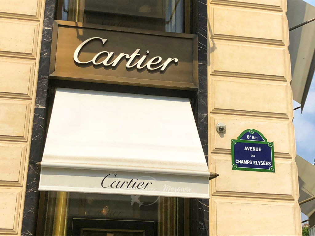 Cartier in Paris along Avenue des Champs Elysees