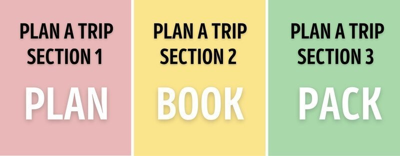 The three phases of how to plan a trip plan book and pack for travel