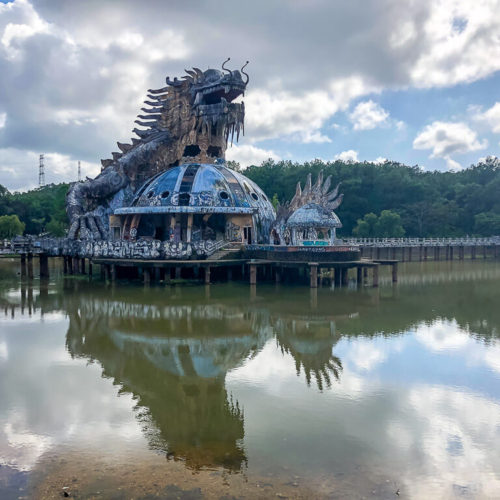 Dragon aquarium in Hue Vietnam abandoned theme park