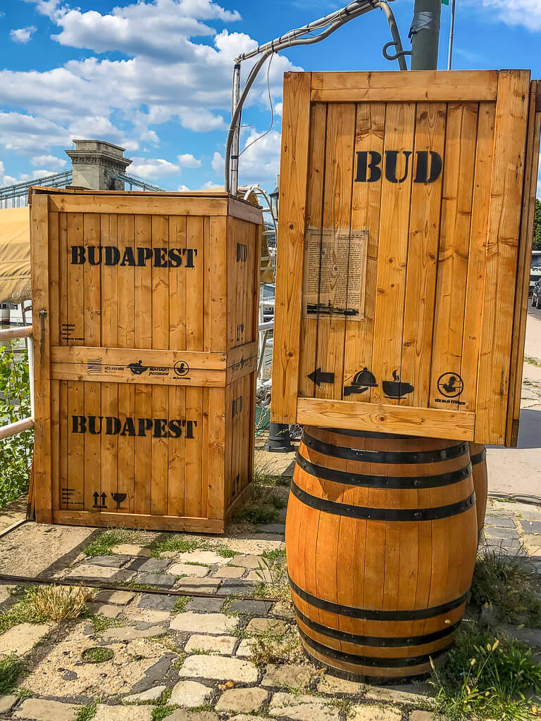 4 days in Budapest shipping crates and barrels