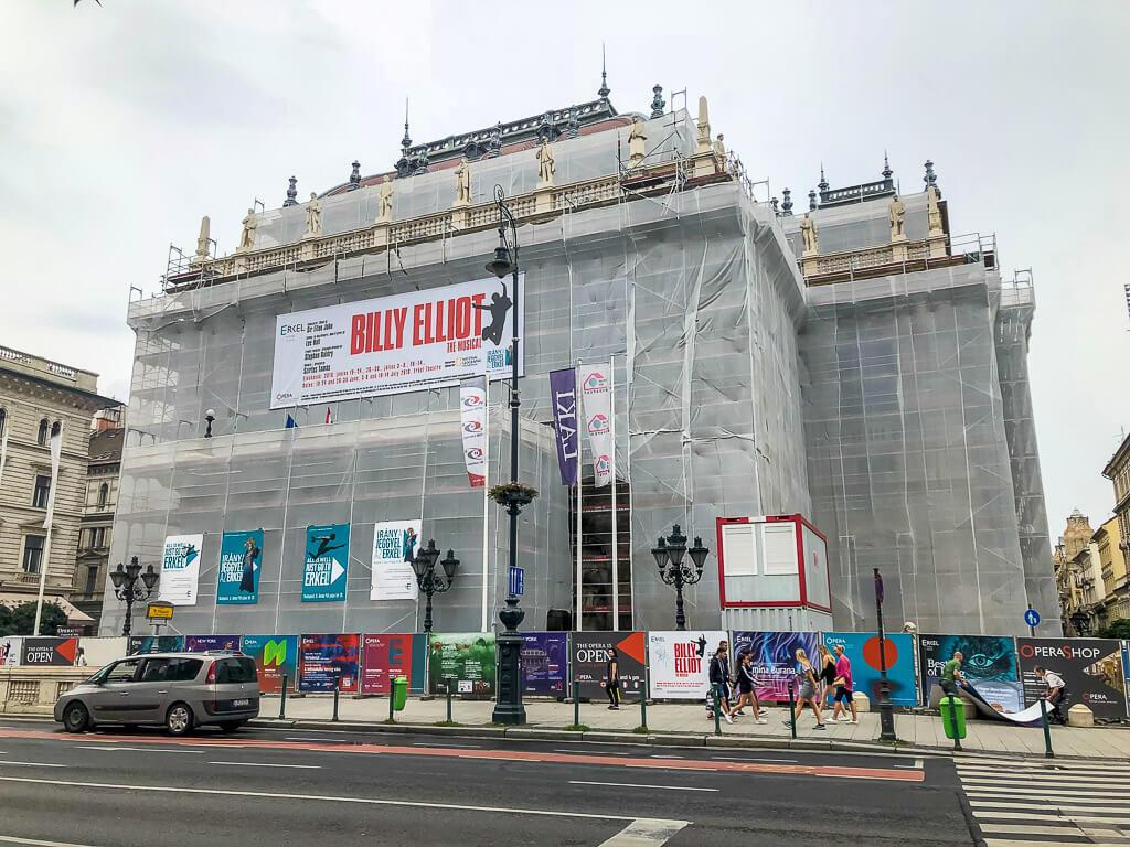 Construction on Budapest Opera House