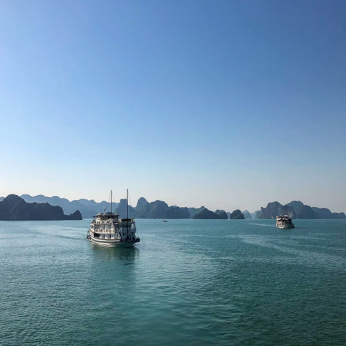 Boats in Ha Long Bay Vietnam