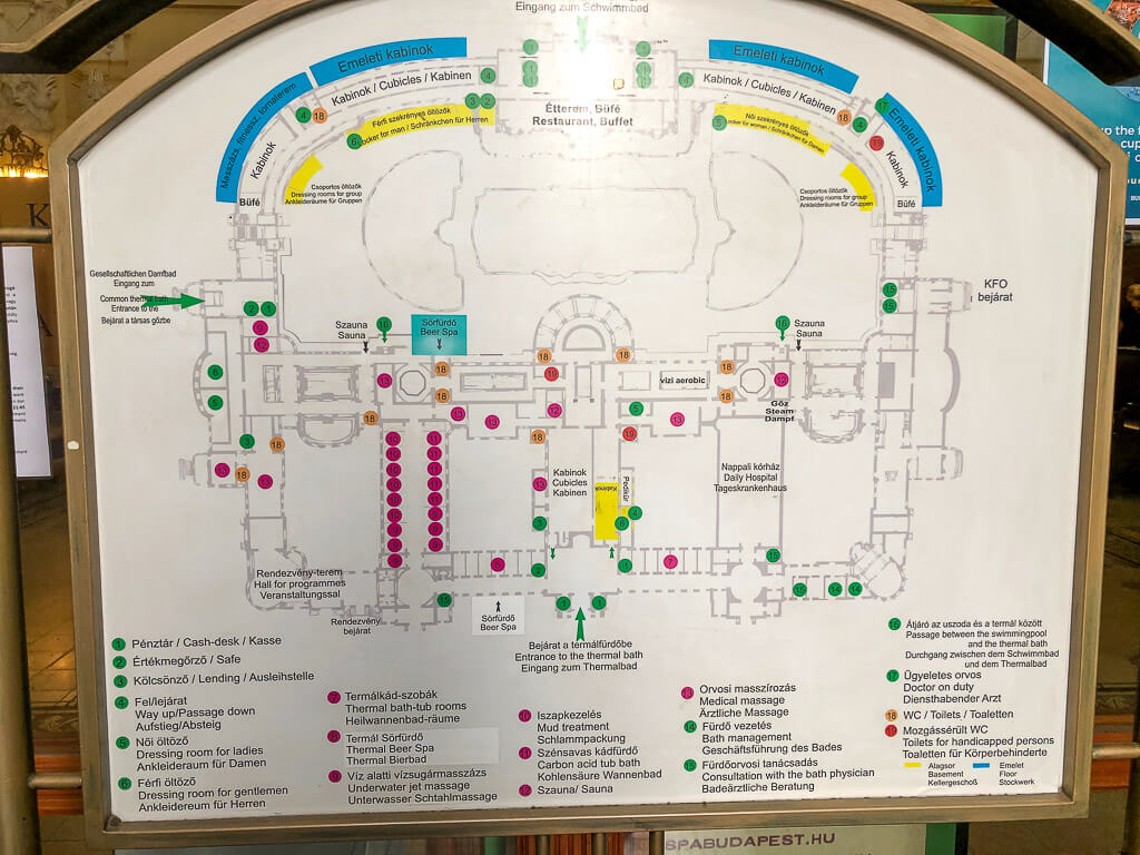 Map of szechenyi thermal baths