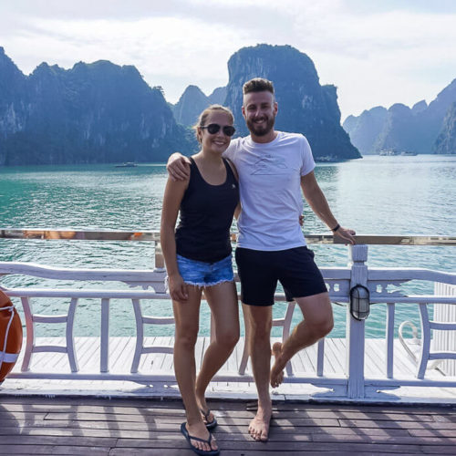 Mark and Kristen on Ha Long Bay Cruise