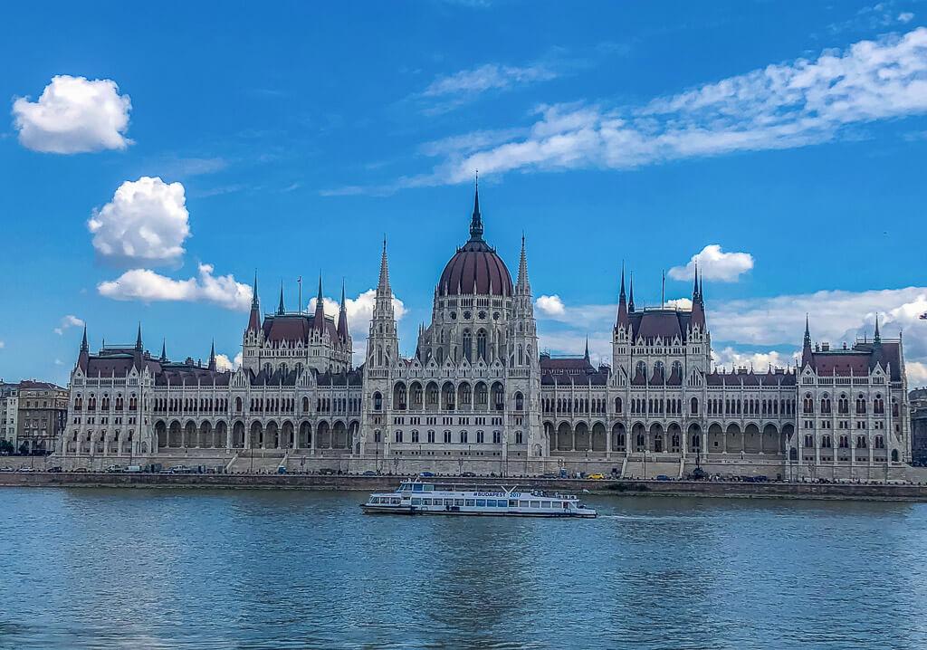 Hungarian Parliament along the River Danube