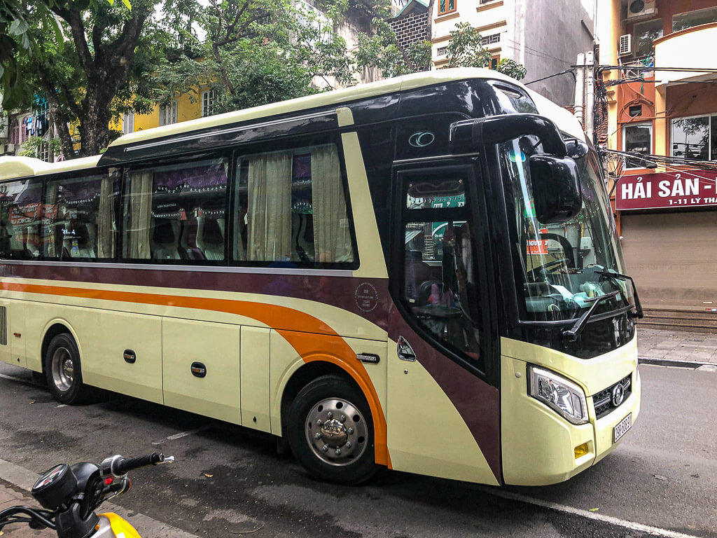 Vietnam sleeper bus in Hanoi