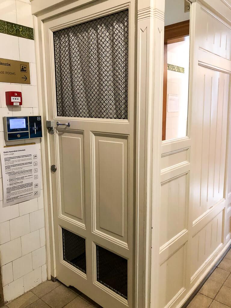 Szechenyi baths changing room