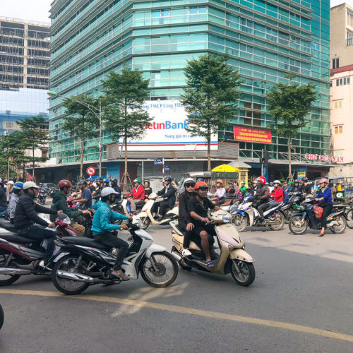 Traffic in Hanoi Vietnam