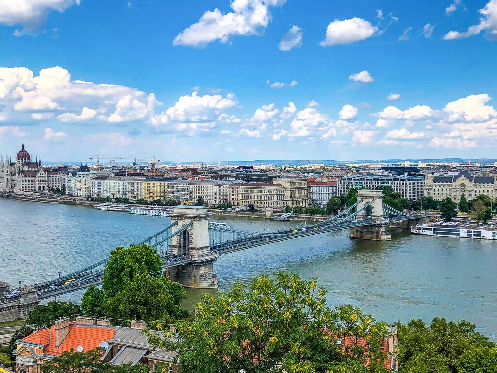 Szechenyi Chain Bridge over the Danube River