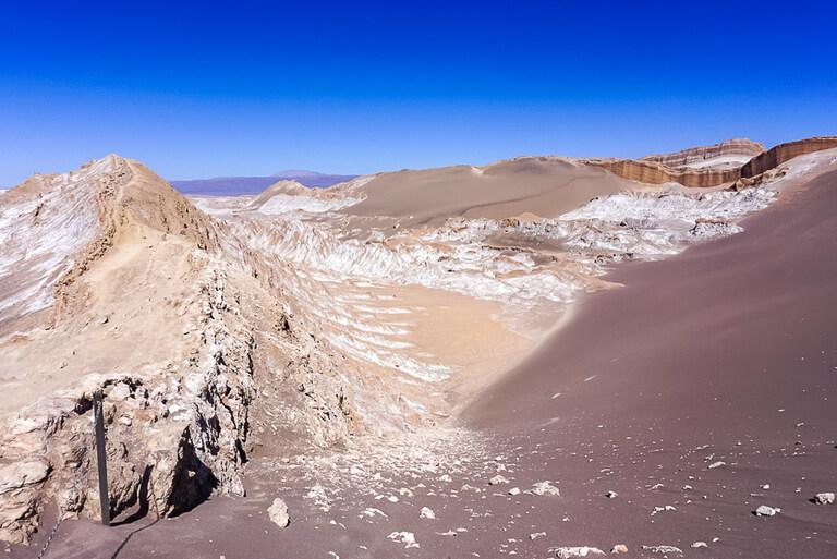 martian landscape of valle de la luna dunes rocks