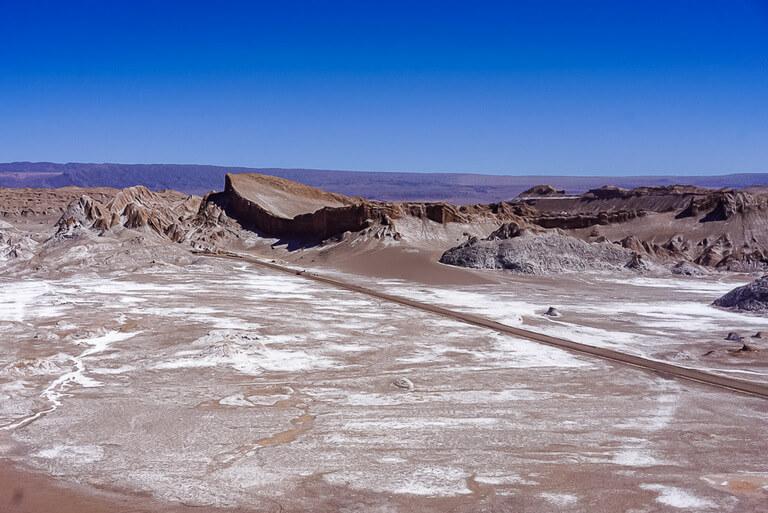 view of amphitheatre from dune mayor in valle de la luna