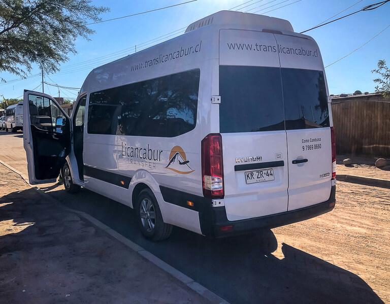 minibus transfer calama to San Pedro town