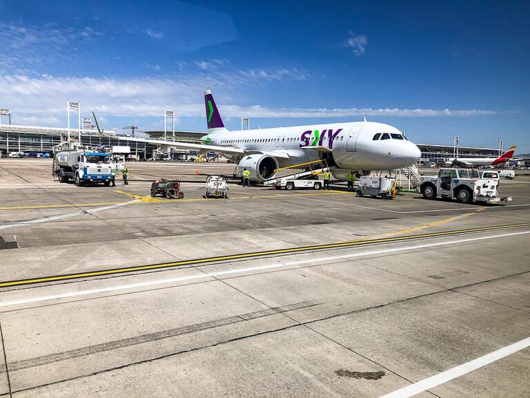sky plane at Calama Airport in Chile