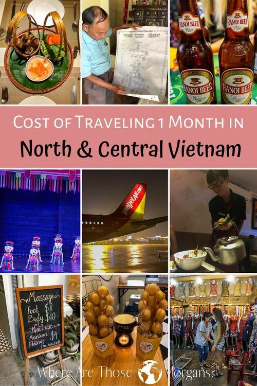 Cost of traveling 1 month in north and Central Vietnam