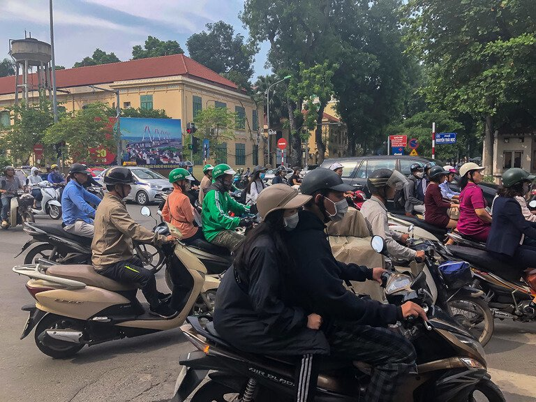 2 days in hanoi is enough with Crazy roads motorbikes driving all over