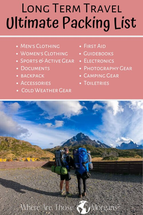 Long Term Travel Ultimate Packing List