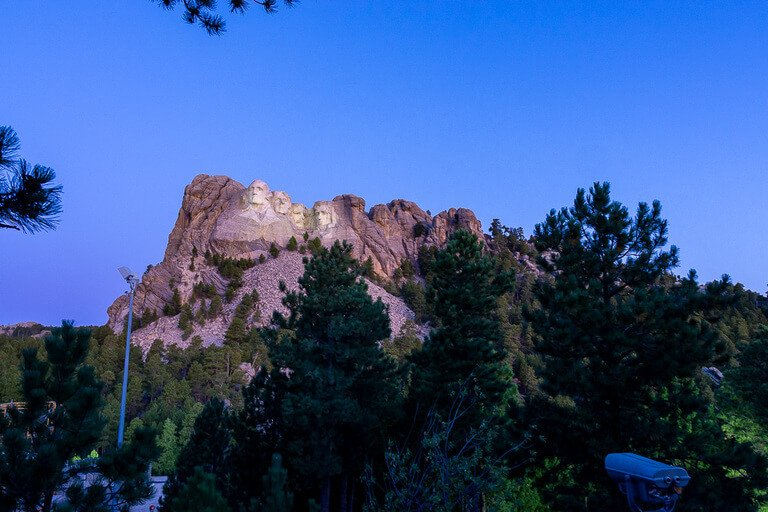 Terrible vantage point of Mount Rushmore