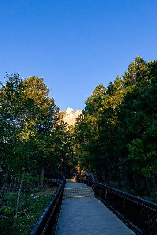 Boardwalk through Mount Rushmore Memorial