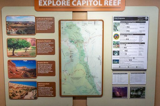 Capitol Reef map of activity