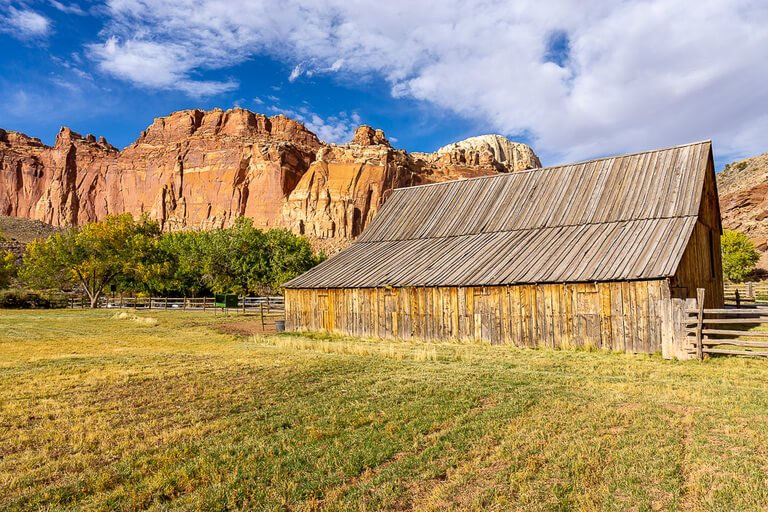 Fruita barn up close and front perspective