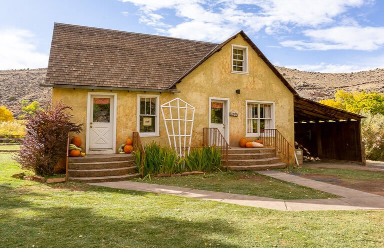 Old Mormon Gifford House Capitol Reef photography