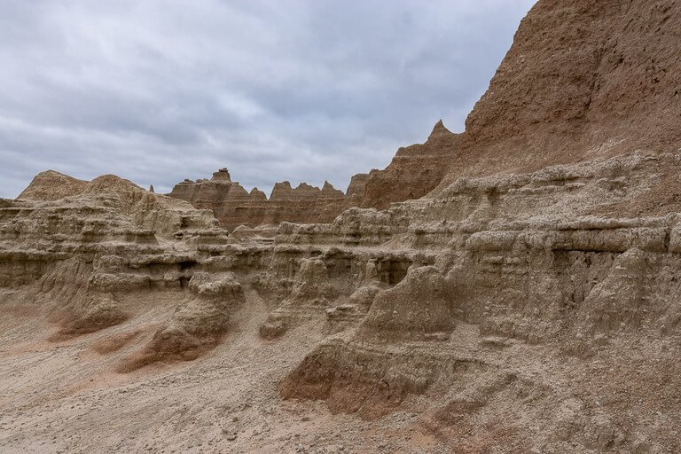 Badlands sharp rock formations
