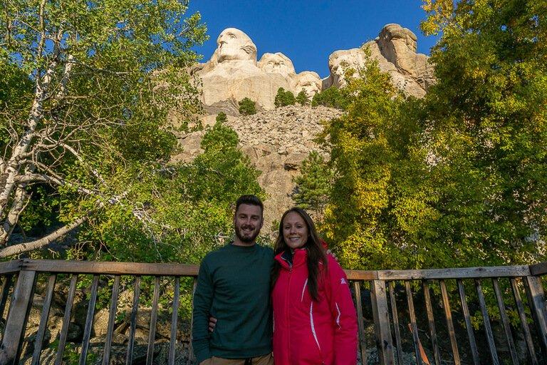 Mark and kristen highest vantage point Mount Rushmore