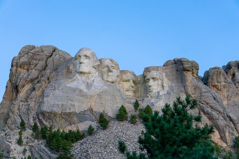 Mount Rushmore vacation photo from before sunrise in Keystone SD