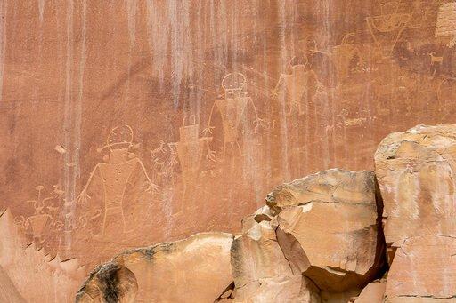 Petroglyphs near fruita schoolhouse Capitol Reef photography