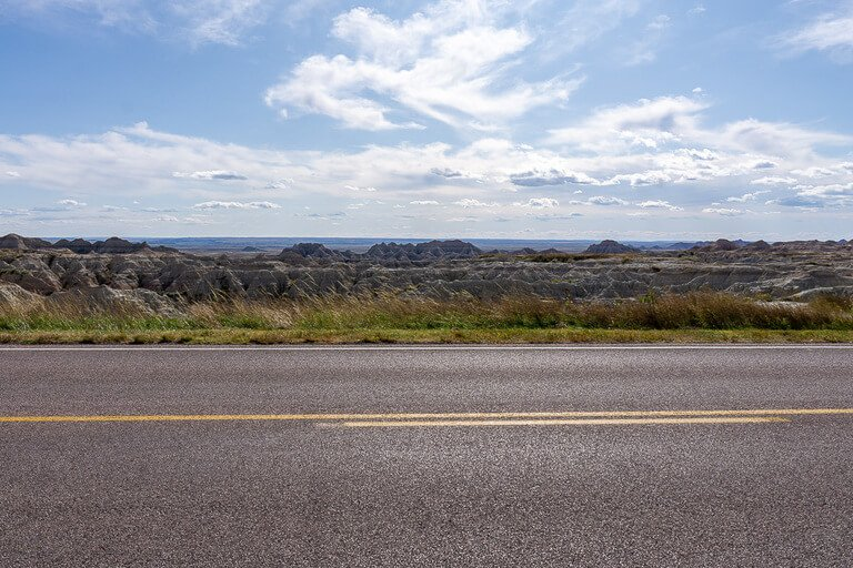 Scenic drive badlands national park loop road South Dakota