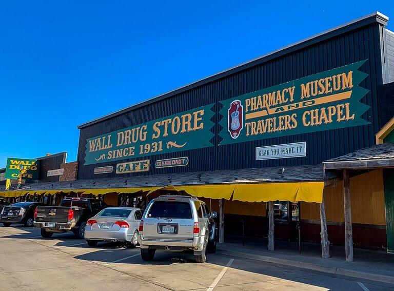 Wall drug store exterior South Dakota