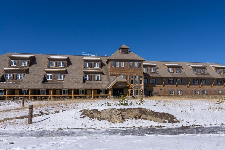 One of many accommodation blocks at canyon in central yellowstone national park