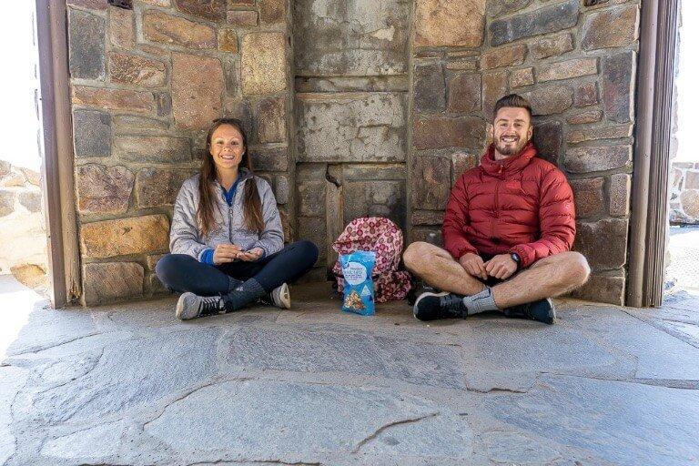 Where Are Those Morgans Black Elk Peak summit with snacks for the hike