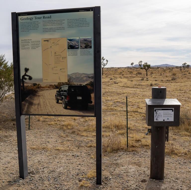 Geology tour 4 wheel drive road California