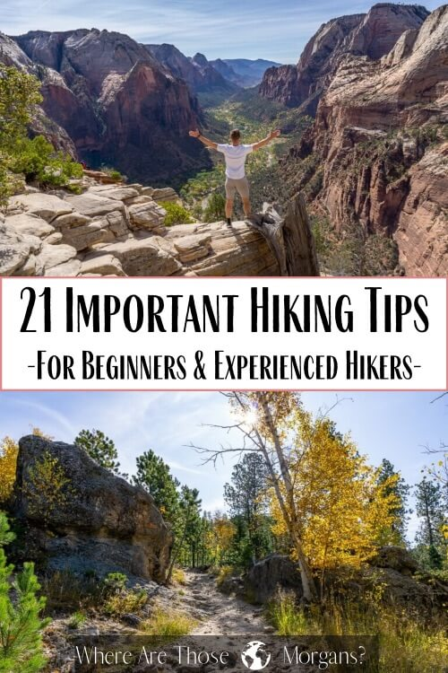 21 important hiking tips for beginners and experienced hikers
