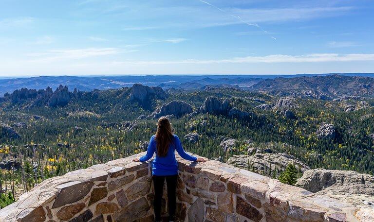 Kristen at Harney Peak summit Black Elk Peak