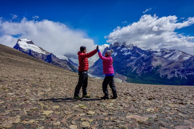 Where are those Morgans hiking in El Chalten Argentina wearing multiple layers tips for beginners