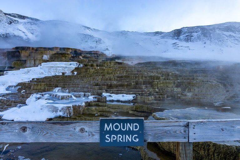 Mound spring Mammoth Hot Springs Yellowstone National park