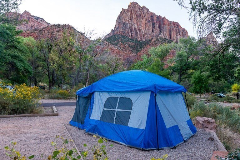 Camping at Watchman Campground Zion National Park
