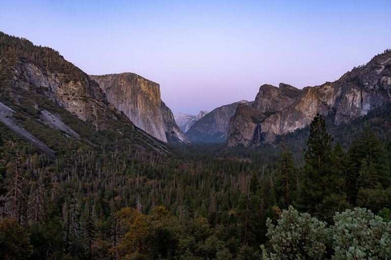 Tunnel view yosemite golden hour