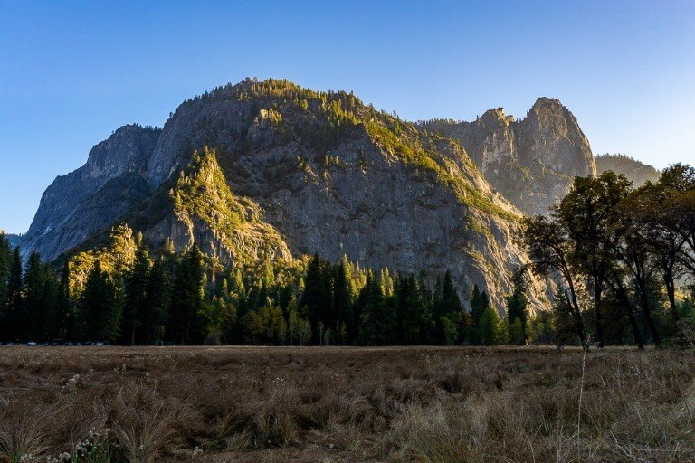 Yosemite Valley meadows at sunset stunning