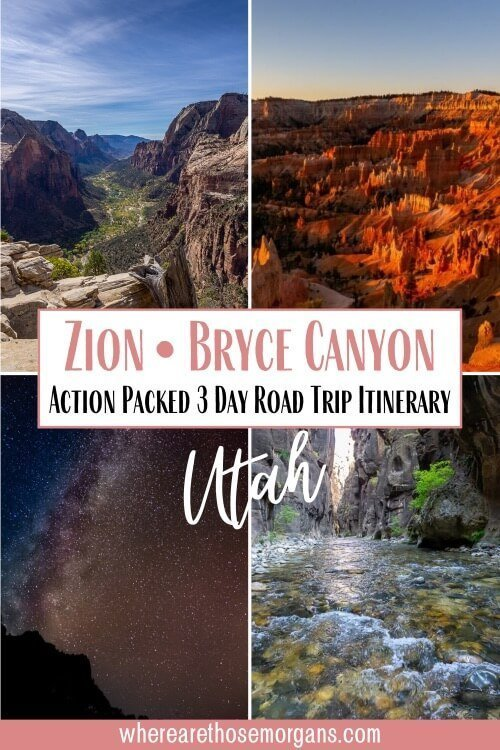 Bryce Canyon and Zion Action packed 3 day road trip itinerary Utah