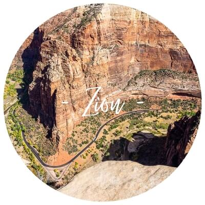 Zion national park utah angels landing the narrows canyon overlook