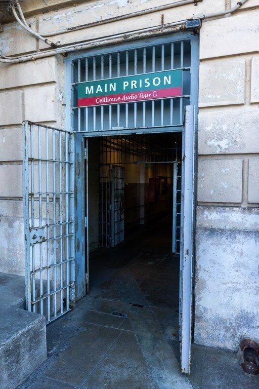 Cellhouse entrance to alcatraz tour and audio guides