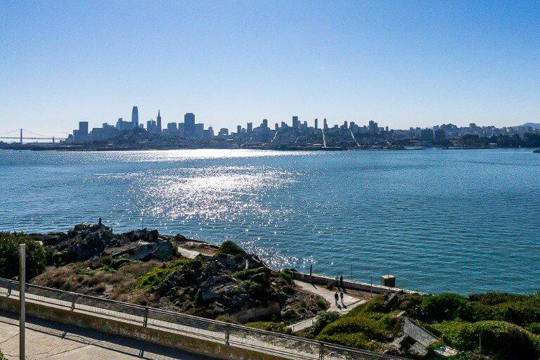 San Francisco city from Alcatraz Island