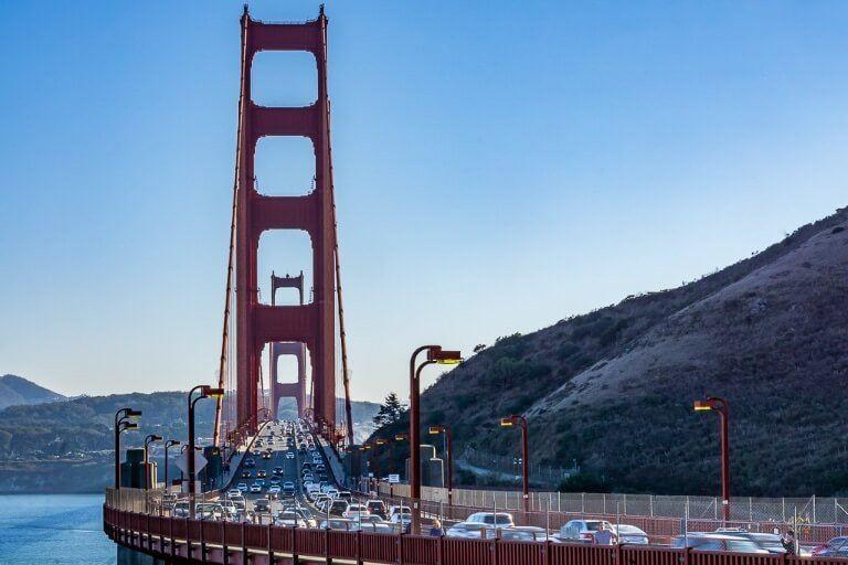 Golden Gate Bridge Vista Point One of best views of bridge in San Francisco