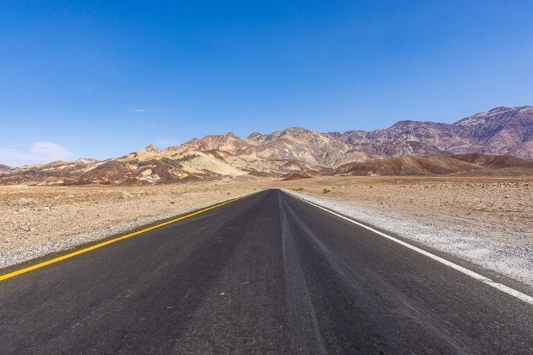 Open road in USA national park