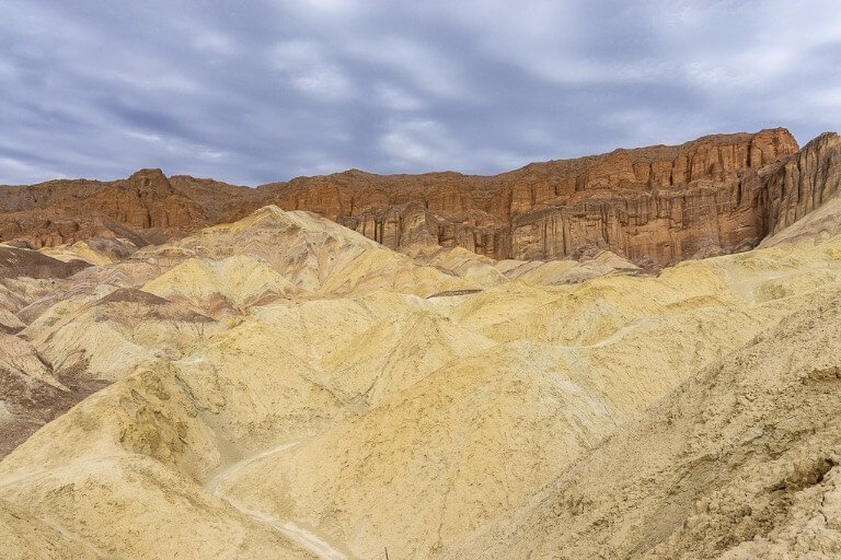 Red cathedral golden canyon hike trail Death Valley in one day itinerary California national park