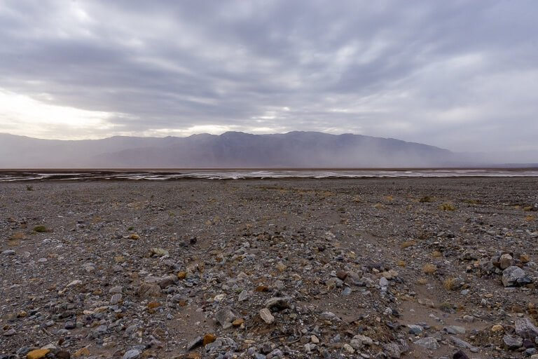 Harsh weather conditions and climate in Death Valley national park California